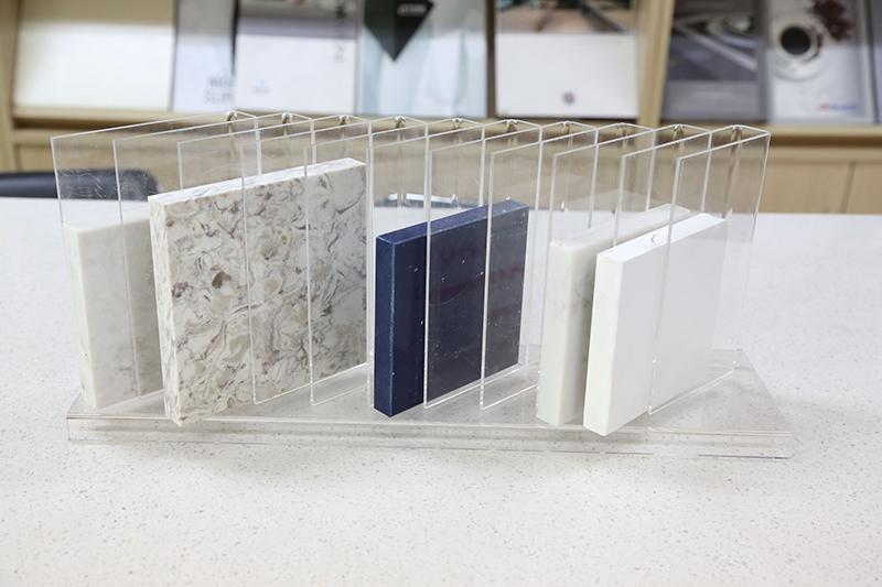 Quartz Sample Display Tabletop Racks Marble Display Stand