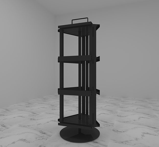 Carousel Stone Quartz Sample Display Stand Rotate Display ST-53-1