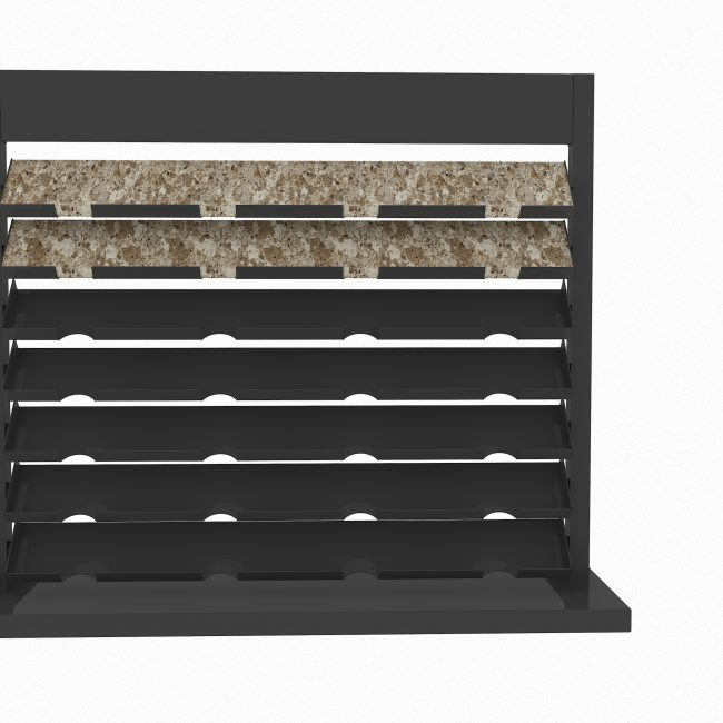 metal stone sample display racks black marble display stand ST-15-1