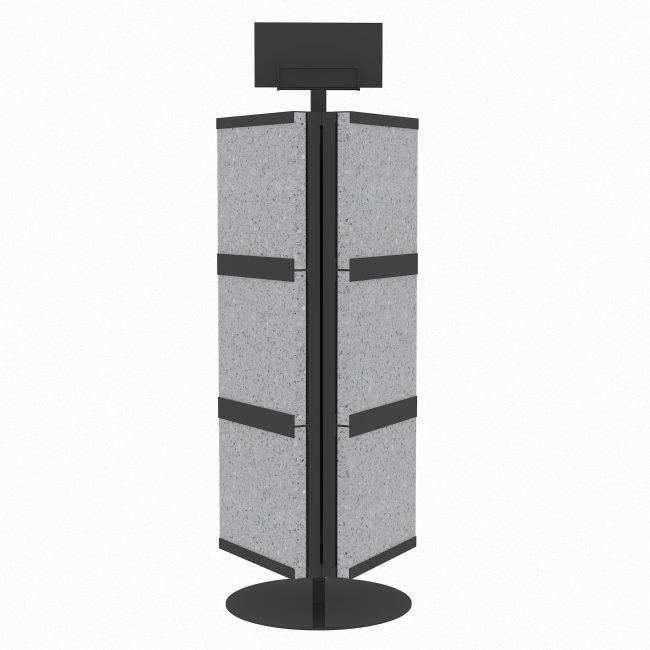 rotate display stand quartz stone display rack st-12-1