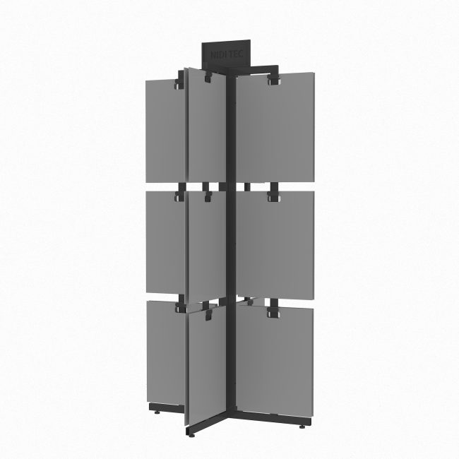 rotate stone display tower with MDF boards ST-13-1