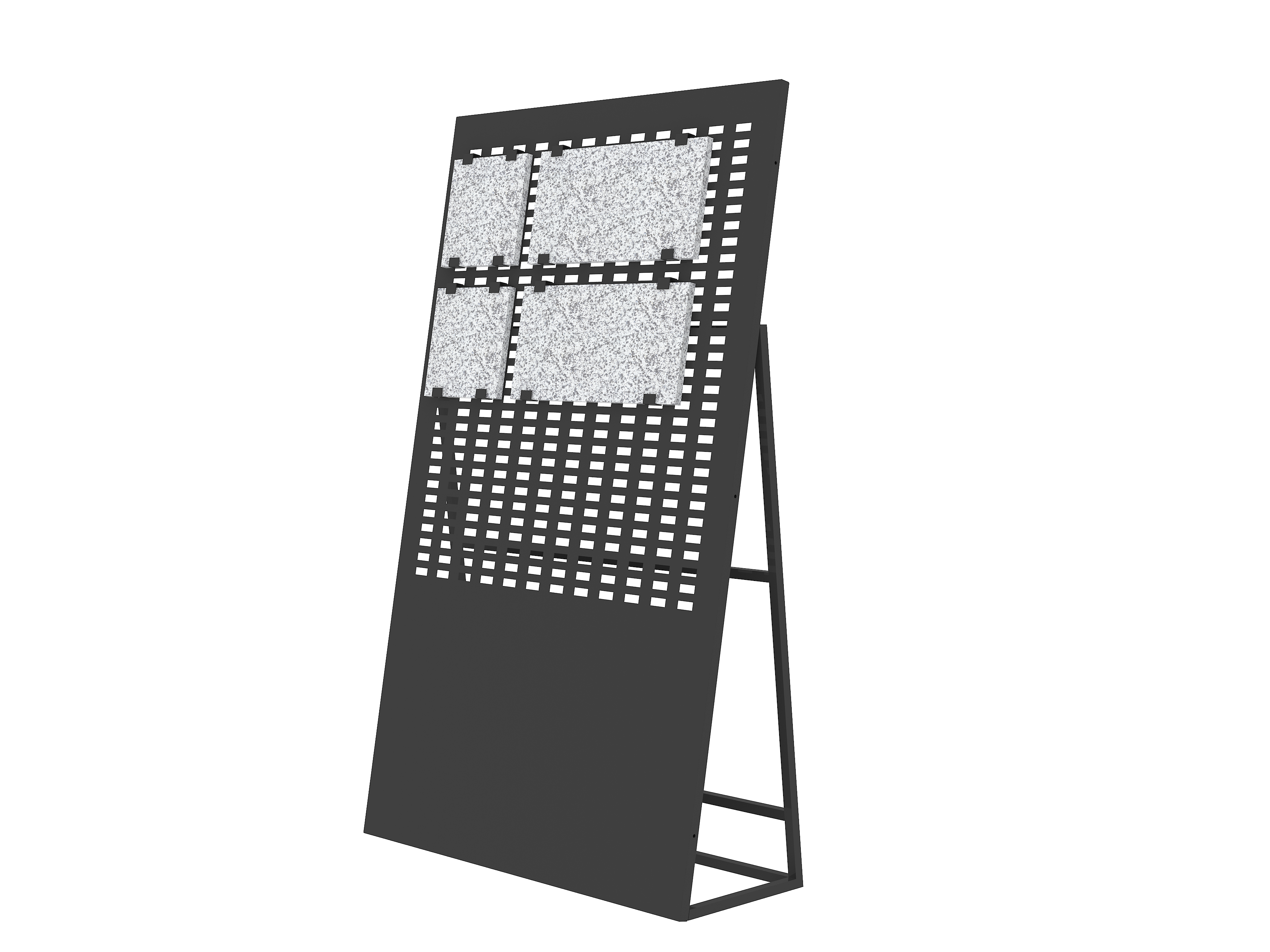 simple-type-stand-granite-sample-display-racks-ST-11-2