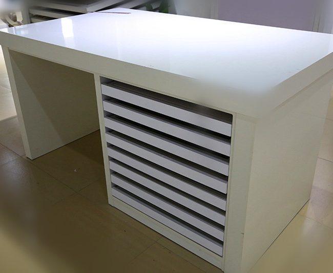 Hardwood-Flooring-Sample-Display-Rack-Marble-Drawer-Stand-ST-84-1-650x533