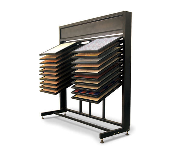 drawer waterfall stock displays flooring display systems ST-43-1