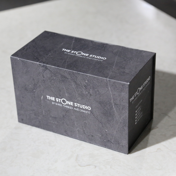 Marble Quartz Stone Tile Black Display Sample Box ST-121-1