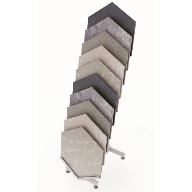 Hexagon Ceramic Sample Display Stand ST-128-2