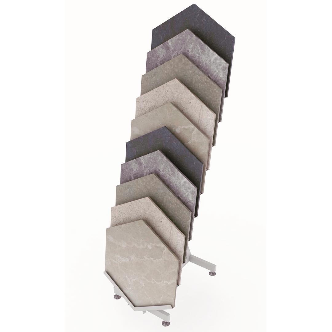 Hexagon Ceramic Sample Display Stand ST-128-2