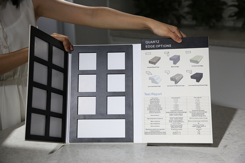 Customized Plastic Stone Sample Display Book ST-134-1