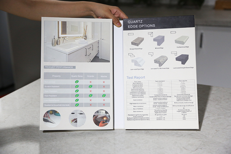 Customized Plastic Stone Sample Display Book ST-134-3