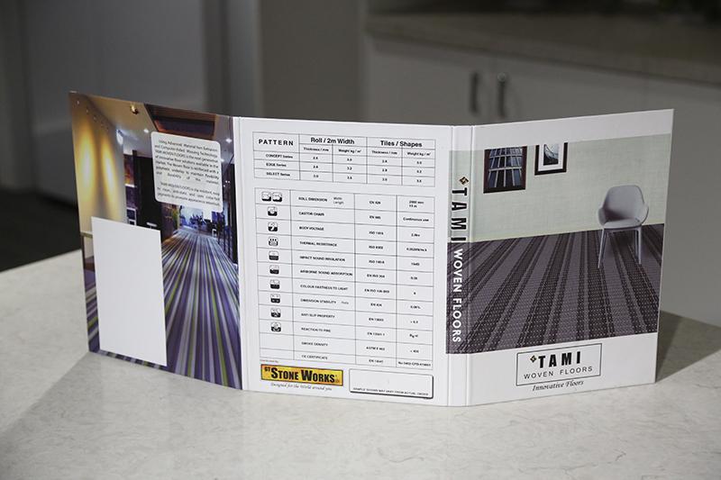 Folding Quartz Marble Sample Display Book ST-135-1