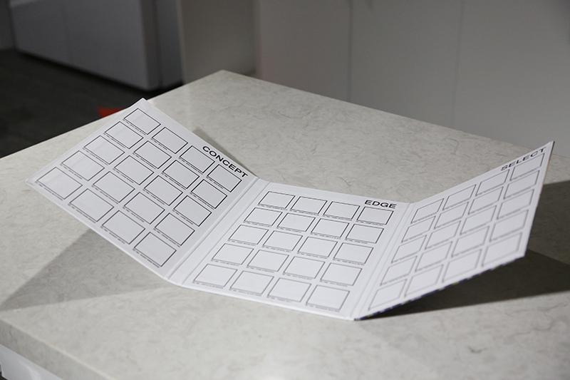 Folding Quartz Marble Sample Display Book ST-135-4