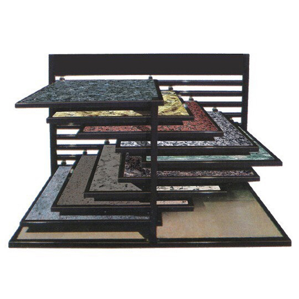 Granite Marble Display Black Metal Shelf ST-150