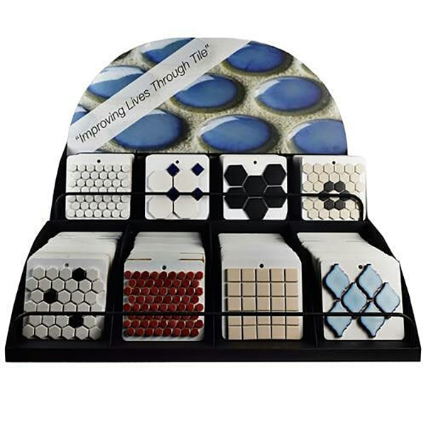 Table Top Display Mosaic Tiles Display Stand ST-155-1