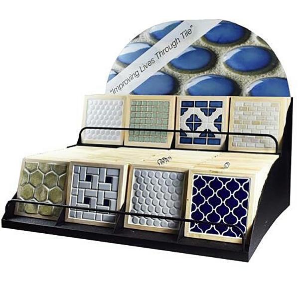 Table Top Display Mosaic Tiles Display Stand ST-155-2