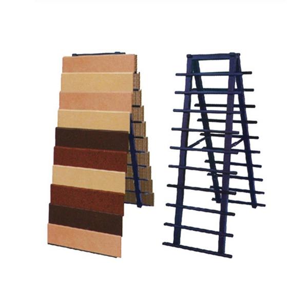 Tile Display Blue Metal Shelf For Exhibition ST-136