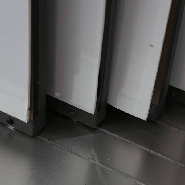 Durable Carpet Sample Display Racks With Metal For Store