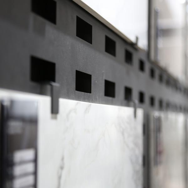 Eye-Catching Ceramic Tile Display Racks With Steel For Logo Printed ST-168 3