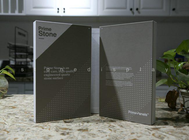 Quartz marble stone sample display folder5