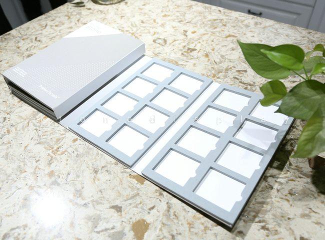 Quartz marble stone sample display folder8