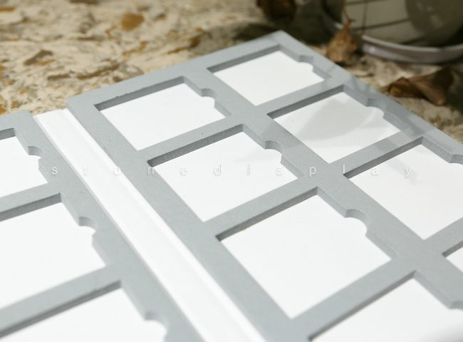 Quartz marble stone sample display folder9
