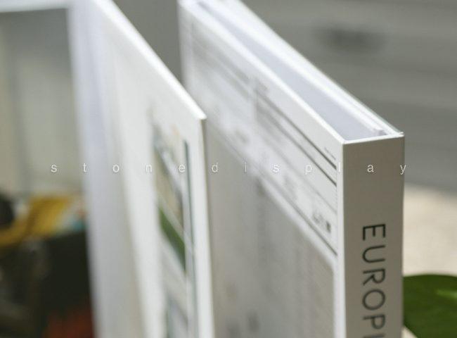 Tri-fold quartz sample display book8